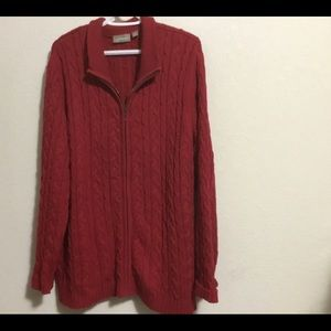 Croft & Barrow Woman's 3x zip up sweater